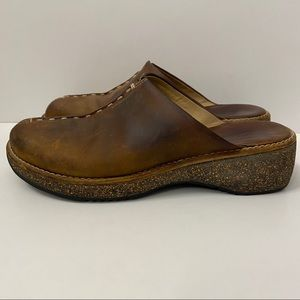 Clarks Leather Mules